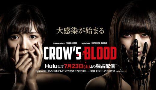 「CROW'S BLOOD」あらすじ見どころは?AKB48×秋元康×ハリウッドが送る注目のホラー・サスペンスドラマ